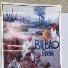 Cartazes Touros: CARTEL PLAZA DE TOROS VISTA ALEGRE. BILBAO. AÑO 1991. Lote 235894895