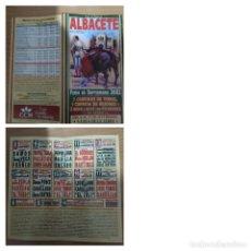 Cartazes Touros: CARTEL DE TOROS DE ALBACETE DE MANO, AÑO 2002. Lote 235895100
