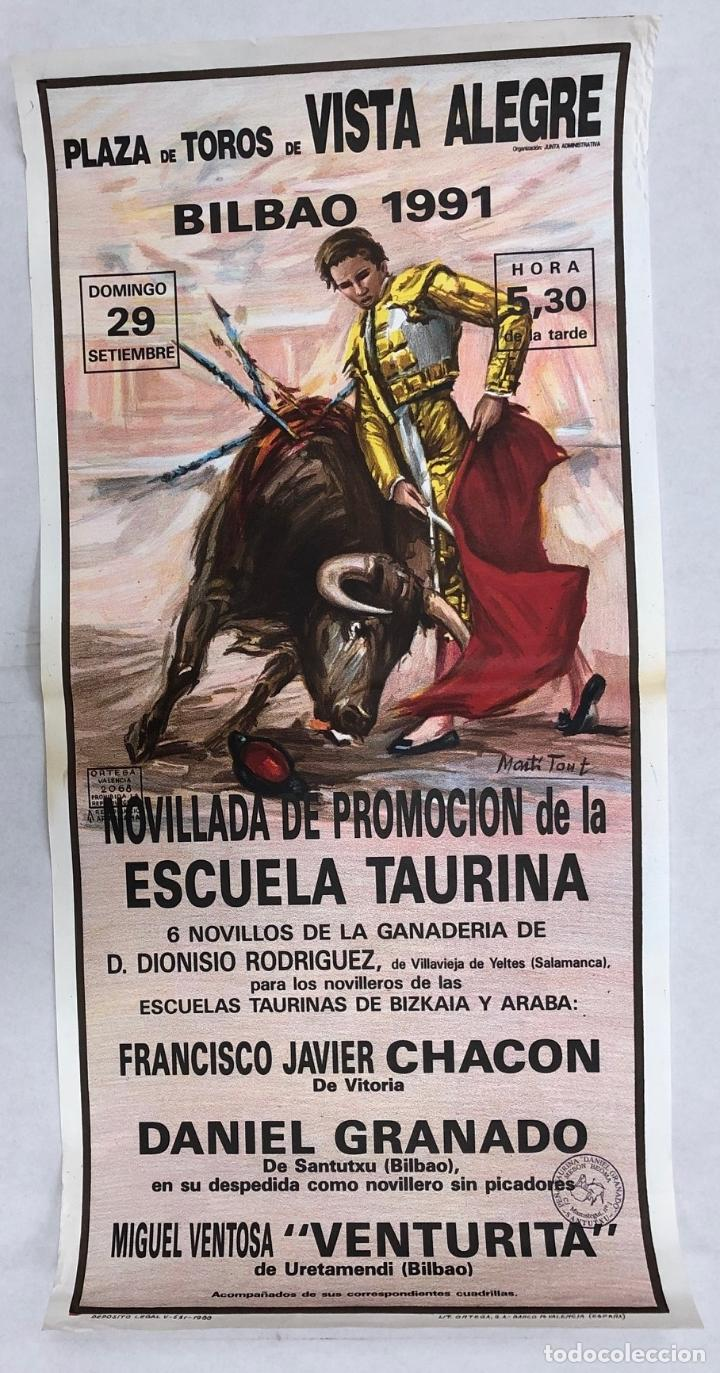 CARTEL PLAZA DE TOROS BILBAO. 29 DE SEPTIEMBRE DE 1991 (Coleccionismo - Carteles Gran Formato - Carteles Toros)