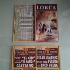 Cartazes Touros: CARTEL DE TOROS DE LORCA DE MANO, AÑO 2007. Lote 235973210