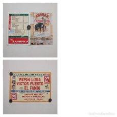Cartazes Touros: CARTEL DE TOROS DE ABARAN DE MANO, AÑO 2002. Lote 235983575