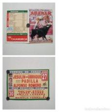 Cartazes Touros: CARTEL DE TOROS DE ABARAN DE MANO, AÑO 2001, TERNA YA RETIRADA DEL TOREO. Lote 235983685