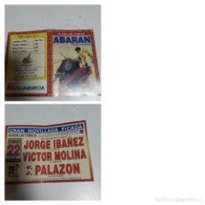 Cartazes Touros: CARTEL DE TOROS DE ABARAN DE MANO, AÑO 2001. Lote 235983895