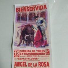 Carteles Toros: CARTEL DE TOROS DE BIENSERVIDA DE MANO, AÑO 2006. Lote 262876640
