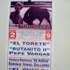 Cartazes Touros: CARTEL DE TOROS DE VILLARROBLEDO DE MANO, AÑO 2006. Lote 236191700