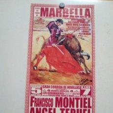 Affiches Tauromachie: CARTEL DE TOROS DE MARBELLA DE MANO, AÑO 2005. Lote 236611000