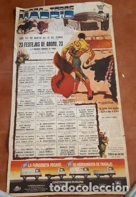CARTEL DE TOROS DE LA FERIA DE SAN ISIDRO DE MADRID DE 1984, ÁLVAREZ CARMENA, PUB. DE PEGASO (Coleccionismo - Carteles Gran Formato - Carteles Toros)