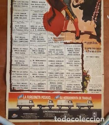 Carteles Toros: CARTEL DE TOROS DE LA FERIA DE SAN ISIDRO DE MADRID DE 1984, ÁLVAREZ CARMENA, PUB. DE PEGASO - Foto 3 - 236890245