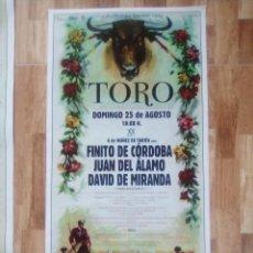 Carteles Toros: CARTEL TOROS, LOCALIDAD TORO, ZAMORA.. Lote 237578650