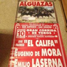 Affiches Tauromachie: CARTEL DE TOROS DE ALGUAZAS DE MURAL AÑO 2006. Lote 237912760