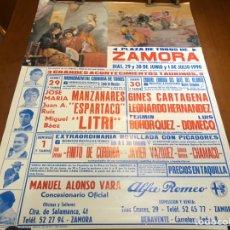 Cartazes Touros: ANTIGUO CARTEL TAURINO ZAMORA 1990. Lote 240486815