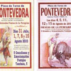 Affiches Tauromachie: 100 FOLLETOS TOROS PLAZA DE PONTEVEDRA - 2010 Y 2012 - LIQUIDACIÓN POR CIERRE DE PÁGINA. Lote 240489425
