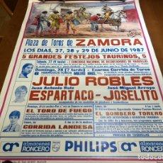 Cartazes Touros: ANTIGUO CARTEL TAURINO 1987 ZAMORA. Lote 240493260