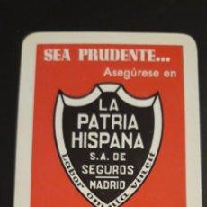 Carteles Toros: 1 CALENDARIO DE H. FOURNIER ** .LA PATRIA HISPANA S.A. SEGUROS AÑO 1968. Lote 240648700
