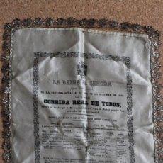 Carteles Toros: CARTEL DE TOROS DE MADRID. 18 DE OCTUBRE DE 1846. EL CHICLANERO, JUAN LEÓN, F. ARJONA GUILLÉN. Lote 242145250