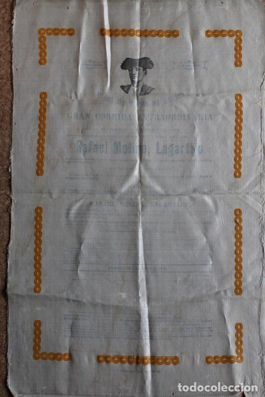 CARTEL DE TOROS DE MADRID.1 DE JUNIO DE 1893. RETIRADA DE LAGARTIJO. (Coleccionismo - Carteles Gran Formato - Carteles Toros)