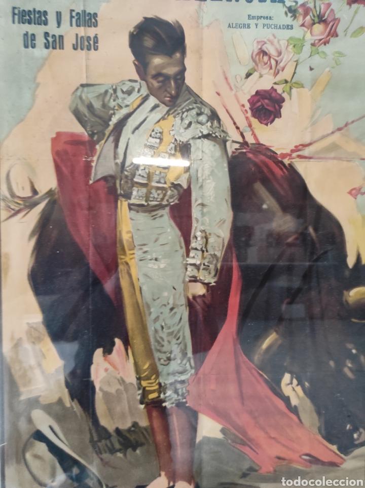 Carteles Toros: PRECIOSO CARTEL MUY GRANDE DE TOROS - VALENCIA - FALLAS - MARZO DE 1956 - LITOGRAFIA - RUANO 112x59 - Foto 6 - 243427970