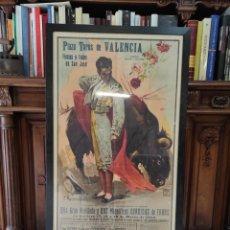 Carteles Toros: PRECIOSO CARTEL MUY GRANDE DE TOROS - VALENCIA - FALLAS - MARZO DE 1956 - LITOGRAFIA - RUANO 112X59. Lote 243427970
