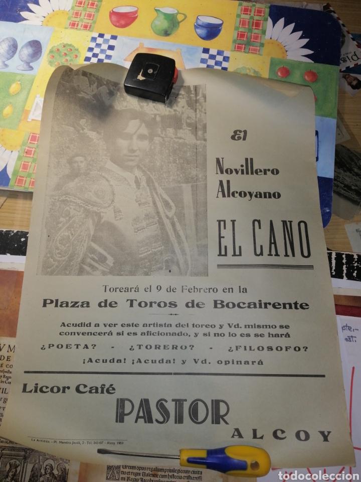 BOCAIRENTE PLAZA DE TOROS 1969 EL CANO TORERO ALCOYANO (Coleccionismo - Carteles Gran Formato - Carteles Toros)