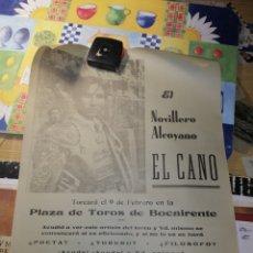 Carteles Toros: BOCAIRENTE PLAZA DE TOROS 1969 EL CANO TORERO ALCOYANO. Lote 243782660