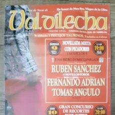 Carteles Toros: CARTEL DE TOROS DE VALDILECHA. Lote 244917320