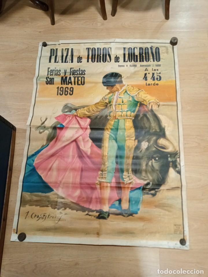 CARTEL FIESTAS DE LOGROÑO 1969 (Coleccionismo - Carteles Gran Formato - Carteles Toros)
