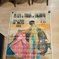 Carteles Toros: CARTEL FIESTAS DE LOGROÑO 1969. Lote 245949885