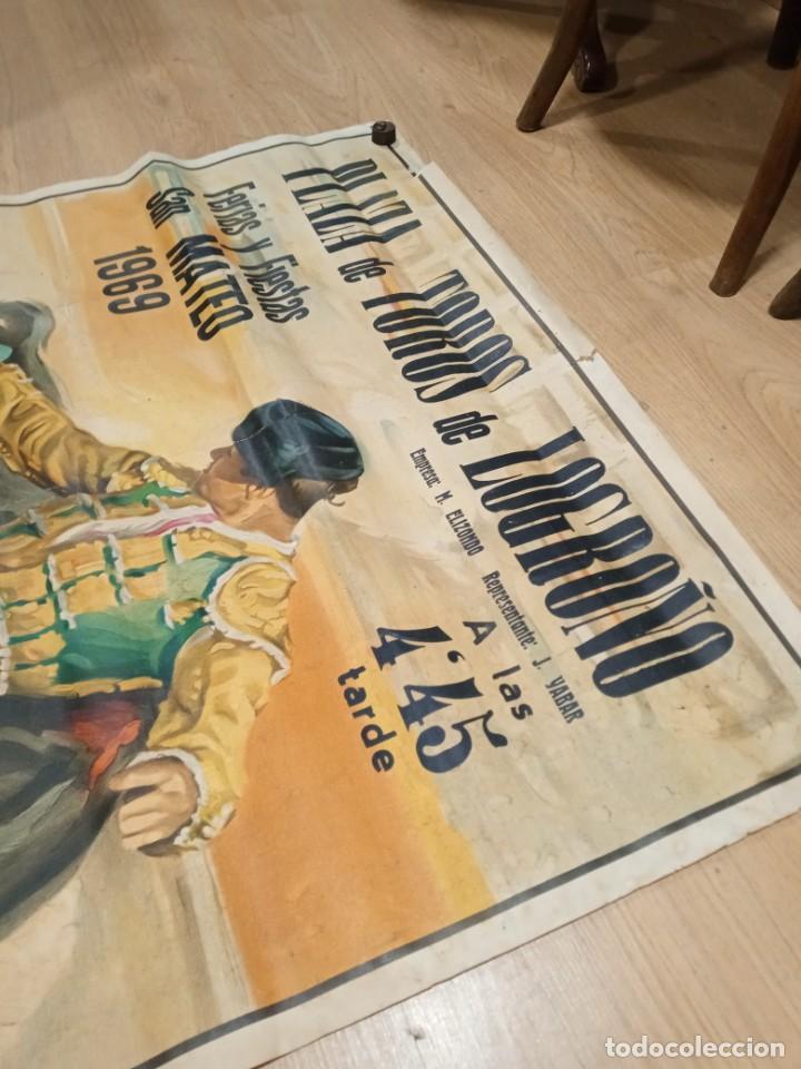 Carteles Toros: Cartel fiestas de Logroño 1969 - Foto 2 - 245949885