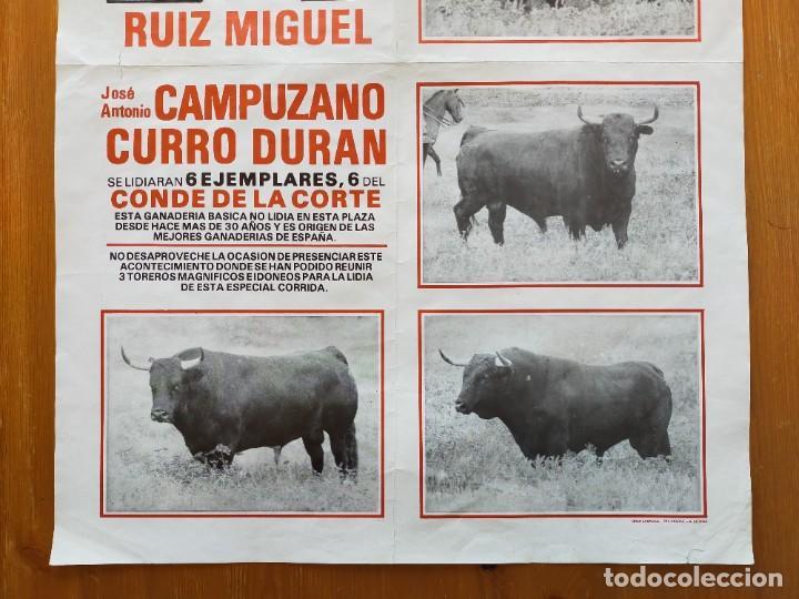 Carteles Toros: CARTEL TOROS (64X45): EL PUERTO STA MARIA: RUIZ MIGUEL, CAMPUZANO y CURRO DURAN - 25/07/1985 - Foto 3 - 245975665