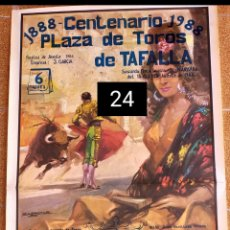 Carteles Toros: CARTEL DE TOROS DE TAFALLA 1988 CENTENARIO PLAZA DE TOROS. Lote 246538955