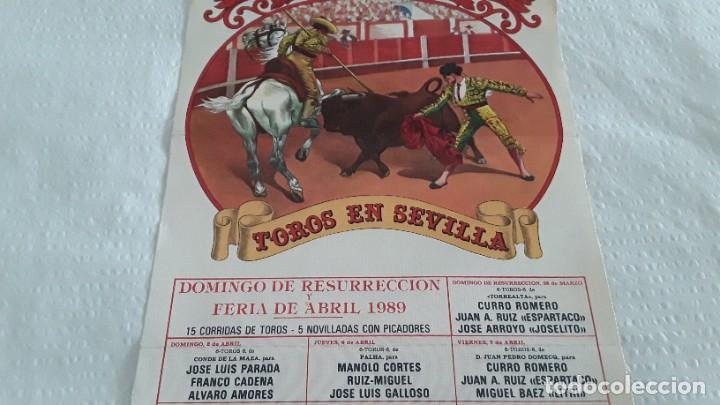 CARTEL DE TOROS SEVILLA 1989 (Coleccionismo - Carteles Gran Formato - Carteles Toros)