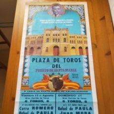Carteles Toros: CARTEL TOROS (105X50): EL PUERTO STA MARIA, FERIA VALDELAGRANA 1980 - CURRO ROMERO, RAFAEL DE PAULA.. Lote 247514340