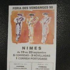 Carteles Toros: ALTERNATIVA DE JESULIN DE UBRIQUE. PLAZA DE TOROS DE NIMES. 1990.. Lote 252553335