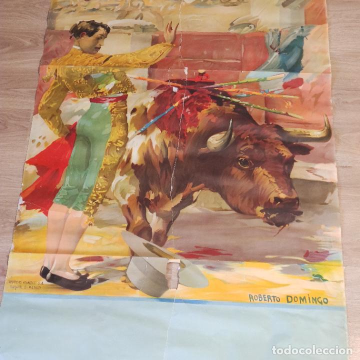 Carteles Toros: Enorme cartel taurino de Joselito con 236 cm de largo y 112 cm de ancho. P. de toros de Madrid. - Foto 2 - 253799805