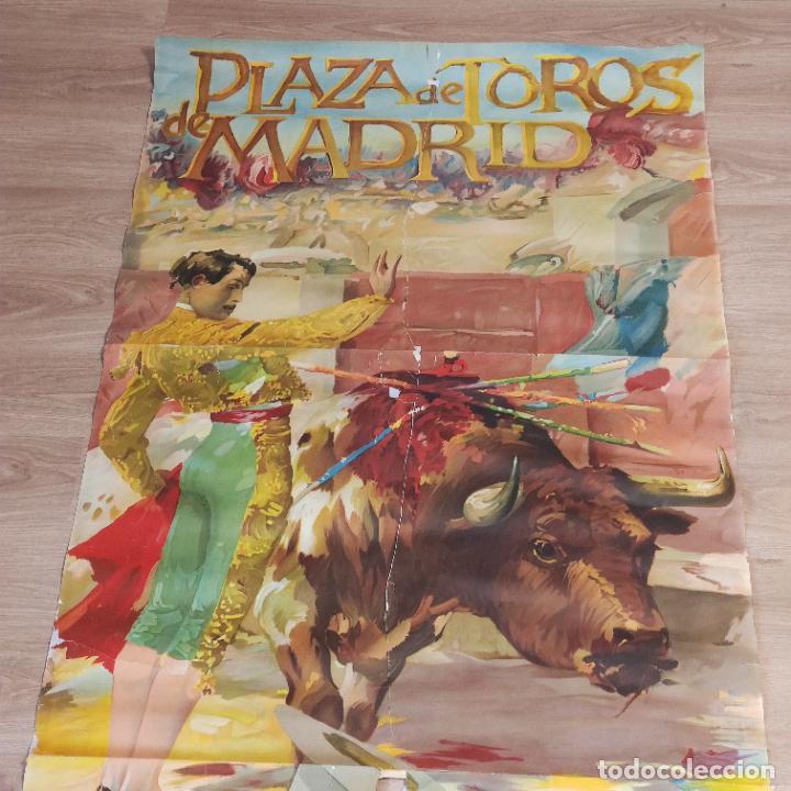 Carteles Toros: Enorme cartel taurino de Joselito con 236 cm de largo y 112 cm de ancho. P. de toros de Madrid. - Foto 3 - 253799805