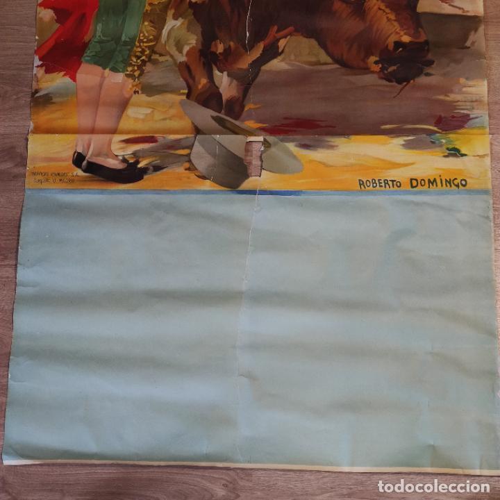 Carteles Toros: Enorme cartel taurino de Joselito con 236 cm de largo y 112 cm de ancho. P. de toros de Madrid. - Foto 4 - 253799805