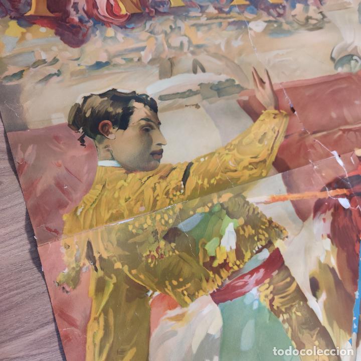 Carteles Toros: Enorme cartel taurino de Joselito con 236 cm de largo y 112 cm de ancho. P. de toros de Madrid. - Foto 6 - 253799805