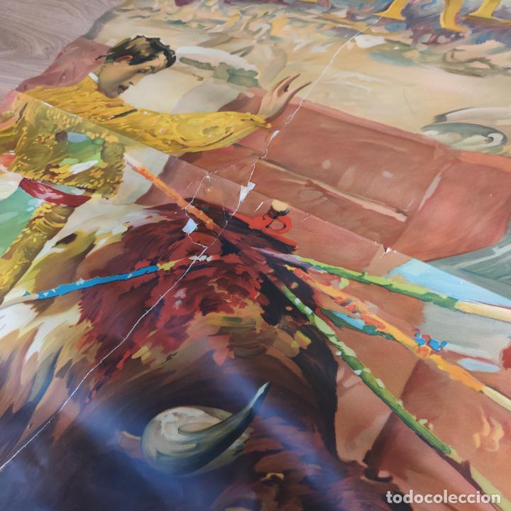 Carteles Toros: Enorme cartel taurino de Joselito con 236 cm de largo y 112 cm de ancho. P. de toros de Madrid. - Foto 7 - 253799805
