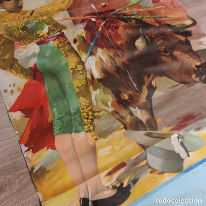 Carteles Toros: Enorme cartel taurino de Joselito con 236 cm de largo y 112 cm de ancho. P. de toros de Madrid. - Foto 8 - 253799805