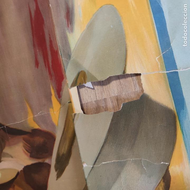 Carteles Toros: Enorme cartel taurino de Joselito con 236 cm de largo y 112 cm de ancho. P. de toros de Madrid. - Foto 9 - 253799805