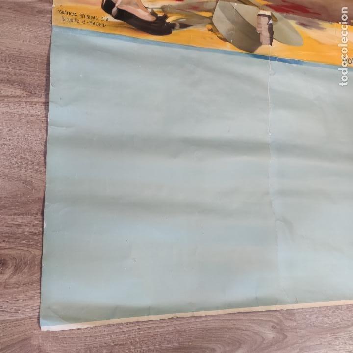 Carteles Toros: Enorme cartel taurino de Joselito con 236 cm de largo y 112 cm de ancho. P. de toros de Madrid. - Foto 13 - 253799805