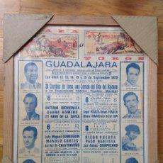 Carteles Toros: CARTEL TAURINO. PLAZA DE TOROS DE GUADALAJARA. 1973. Lote 254007220