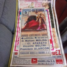 Carteles Toros: CARTEL TOROS VALDEGANGA AÑO 1991,NOVILLADA. Lote 257302945