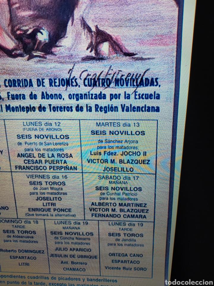Carteles Toros: Cartel plaza toros valencia fallas 1990 - Foto 2 - 257532000