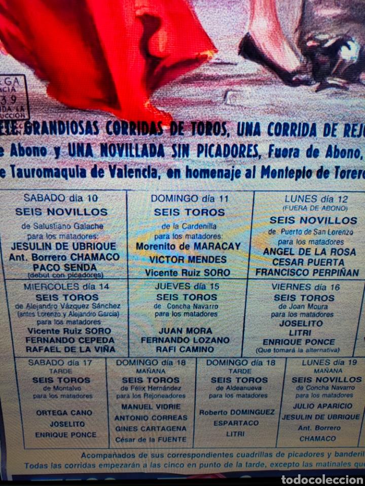 CARTEL PLAZA TOROS VALENCIA FALLAS 1990 (Coleccionismo - Carteles Gran Formato - Carteles Toros)