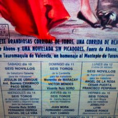 Carteles Toros: CARTEL PLAZA TOROS VALENCIA FALLAS 1990. Lote 257532000