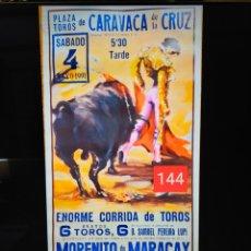 Carteles Toros: CARTEL DE TOROS PLAZA DE CARAVACA DE LA CRUZ 1991 CASCALES,MARACAY,PONCE. Lote 257532655