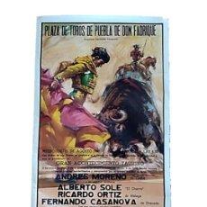 Carteles Toros: ANTIGUO CARTEL TAURINO AÑO 1990 TORERO ANDRES MORENO. Lote 263732365
