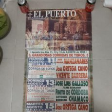 Carteles Toros: CARTEL TOROS EL PUERTO. Lote 268578854