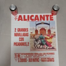 Carteles Toros: CARTEL TOROS ALICANTE. Lote 268579144